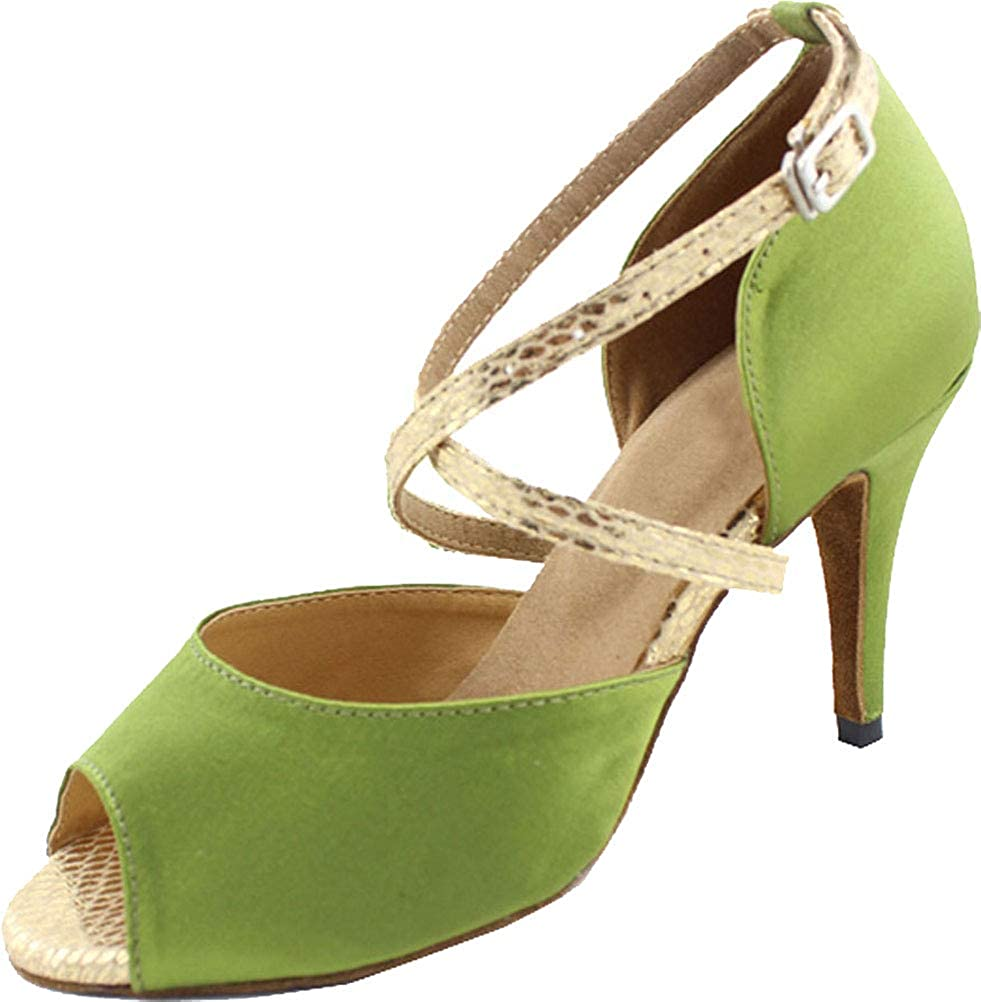 Womens Sexy Latin Dance Shoes Salsa Wedding Bride Pumps Ballroom Custom Heel Height