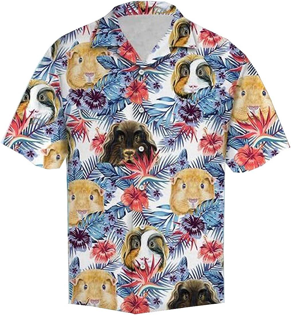 Summer Hawaiian Shirts for Men Women - Animal Button Down Mens Hawaiian Shirts Short Sleeve Set 4
