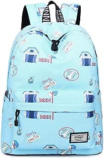 Backpacks for Teen Girls Middle School, 14 inch Laptop Bag Travel Rucksack, Fashion Casual Daypack, Teenage School Backpack Women Print Backpack Purse (Color : Teal)