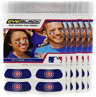 EyeBlack (24 Strips) - Chicago Cubs Blue MLB Eye Black Anti Glare Strips, Great for Fans & Athletes on Game Day