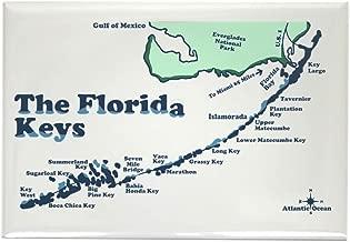 CafePress Florida Keys - Map Design. Rectangle Magnet, 2
