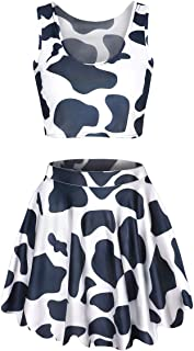 cow skirt and top