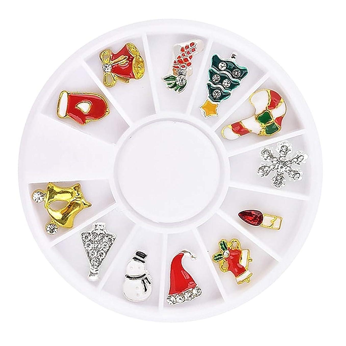 こねる構成時間B Baosity 約12個 クリスマス 3Dネイル デカール DIY 3タイプ選べ - #3