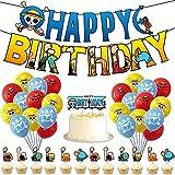 One Pieces Geburtstag Party Deko One Pieces Luftballons Geburtstagsdeko Themenparty, Motto Lieferungen Partyzubehör für Kinder Jungen Mädchen Geburtstag Dekoration Set