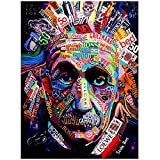 Tiiiytu Graffiti Art Berühmte Physiker Leinwand Gemälde