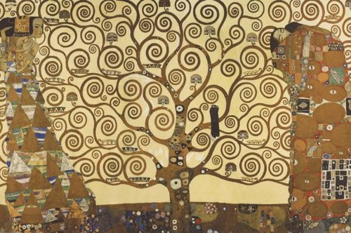 175.489 Impero Post Replica Della Pittura Gustav Klimt L'Albero Della Vita, 91.5 X 61 Cm