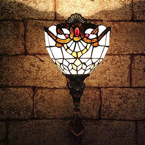 TOYM 8 inch Continental retro bar creatieve Baroque Tiffany wandlamp slaapkamer naast het bed