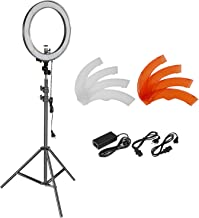 Neewer 18 inches 55W Dimmable LED Ring Light and Light Stand Lighting Kit - 240 LED Beads SMD Ring Light,6.5 feet Adjustable Light Stand,Ball Head Hotshoe Adapter for Camera Photo Studio YouTube Video