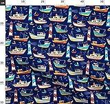 Boot, Schiff, Maritim, Meer, Ozean, Wasser, Sommer Stoffe -