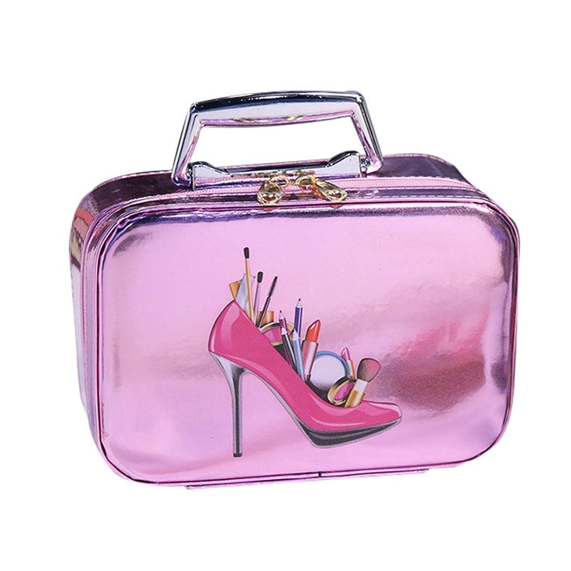 平日振動させるサワーDRASAWEE(JP) 化粧バッグ メイクボックス コスメポーチ 小物整理 明るい キュート 高級感カラー ニューファション 活躍 ピンク