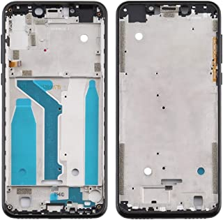 Mobile Phones Communication Accessories Front Housing LCD Frame Bezel Plate for Motorola Moto One (P30 Play) (Color : Black)