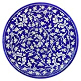 R.V. CRAFTS Pottery Ceramic Decorative Wall Hanging Handmade Plate (6 INCH)