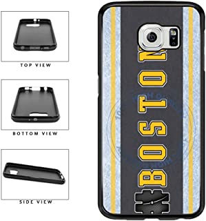BleuReign(TM) Hockey Team Hashtag Boston #Boston TPU RUBBER SILICONE Phone Case Back Cover For Samsung Galaxy S7