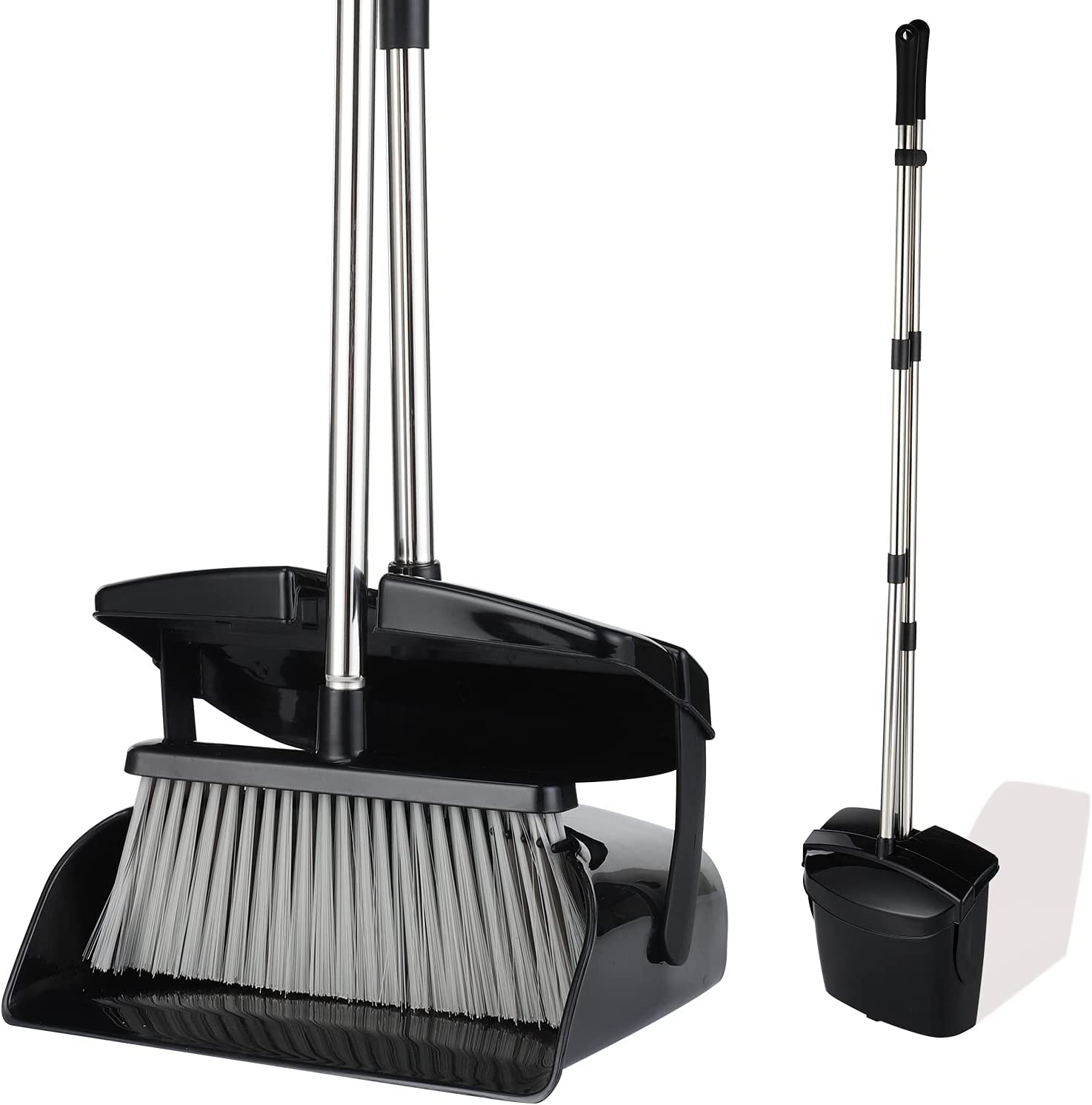 Maxurry Broom and San Jose 4 years warranty Mall Dustpan Set Combo Hand Long with