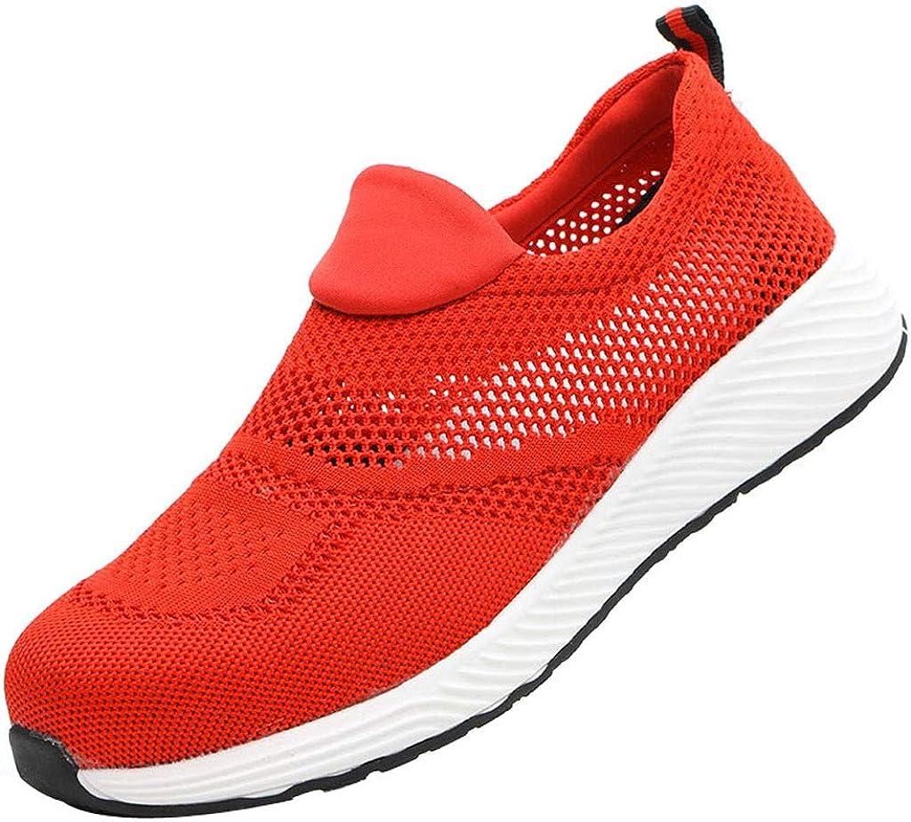 Zapatos de Seguridad para Hombre Mujer con Puntera de Acero Zapatillas de Seguridad Trabajo Calzado de Industrial y Deportiva Ligeros Comodos Transpirable Antideslizante