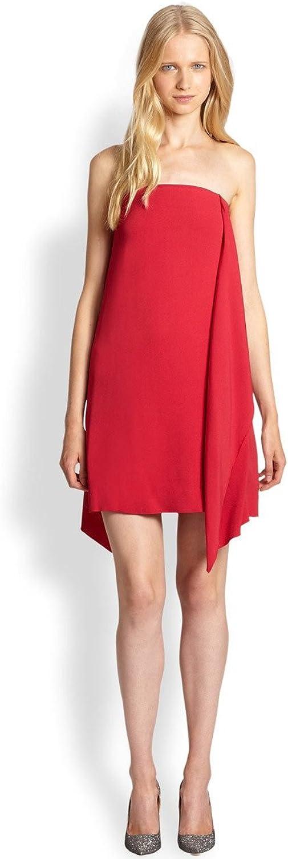 Malene Birger Women's Leena Strapless Ruffle Dress (Red)