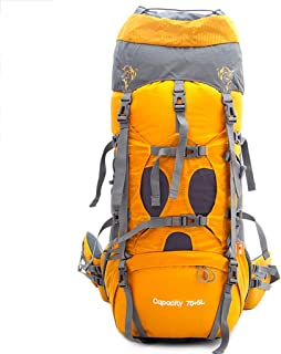 Outdoor Mountaineering Bag Multi-Function Travel Backpack Hiking Backpack Large Capacity Backpack 75L FKYGDQ (Color : Yellow)