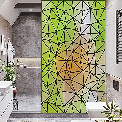 Lámina de privacidad esmerilada irregular, diseño de mosaico de azulejos autoadhesivo, adhesivo decorativo para ventana, 16,5 x 63 (42 x 160 cm)