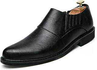 [ジョイジョイ] タッセル スリッポン ローファー ビジネスシューズ メンズ おしゃれ 厚底 カジュアル スエード 革靴 黒 ブラウン 茶 グレー 防水 ウォーキング 防滑 軽量 男性 通学 通勤 フォーマル オフィス 仕事 ポインテッドトゥ