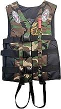 SDKLJ Adults Life Jacket with Whistle Aid Vest Kayak Ski Buoyancy Fishing Boat Watersport Recreation Life Vest for Men Wom...