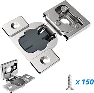 Hosom 1/2 Inch Soft Close Cabinet Hinges Nickel Plated 50pcs