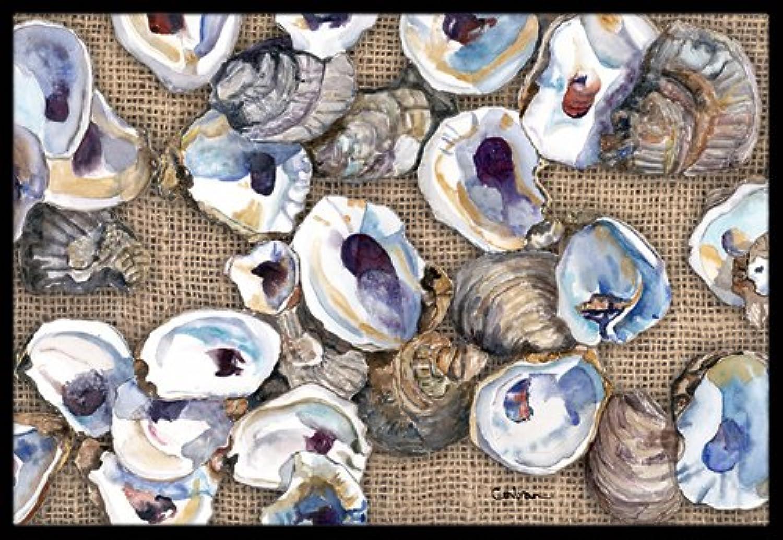 Caroline's Treasures 8734JMAT Oyster Indoor or Outdoor Doormat, 24  x 36 , Multicolor