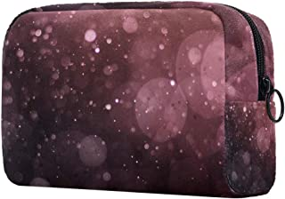 Makeup Bag Toiletry Bag for Women Bubbles Pattern Skincare Cosmetic Handy Pouch Zipper Handbag