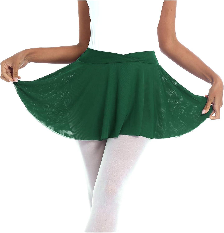 WinChang Women's Tutu Flared OFFicial shop Skirt S Austin Mall Ballet Skirts Pull-On Dance