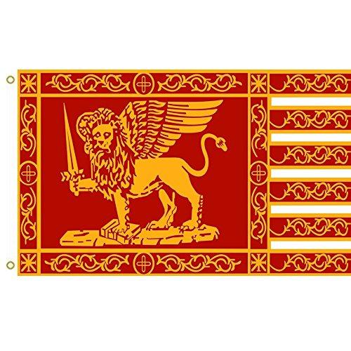 """Große Flagge der Republik Venedig-Fahne mit der Aufschrift """"Most Serene Republic"""" von Venedig, 91 x 152 cm"""