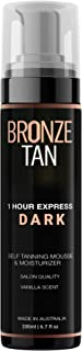 Bronze Tan Dark Self Tanner and Self Tanning Mousse For Fair to Medium Skin Tones Salon Quality Vanilla Scented Self Tanners Best Sellers (200 ml/ 6.7 oz)