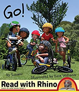 Go!: Read with Rhino learn to read books Level 1 by [Suzie W, Dave Williams]