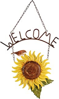 Sunset Vista Design Studios Birds of a Feather Hanging Metal Welcome Sign, Sunflower