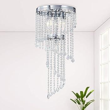 Lampadario Cristallo Moderno Lampadario Soggiorno (K9 Crystal) Lampadario Camera Letto 、Lampadari Moderni Plafoniera Soffitto Cristallo