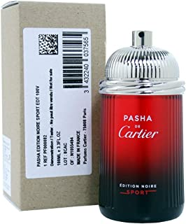 Title: Cartier Pasha De Cartier Noire Sport for Men Eau de Toilette Spray 100ml (Tester/Plain Box)