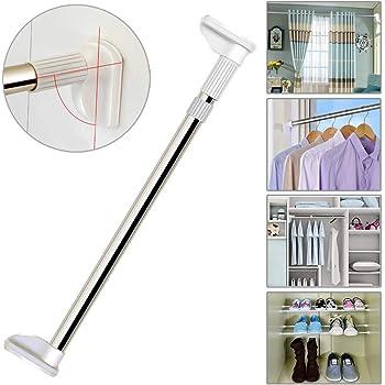 in acciaio inossidabile 88-160cm estensibile da 48 cm a 160 cm. come supporto per tendine e tende regolabile doccia Asta teloscopica allungabile da usare per armadi bagno