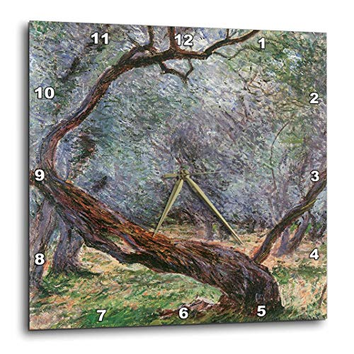 3dRose DPP_126609_1 Study of Olive Trees by Claude Monet, 1884 Wall Clock, 10 by