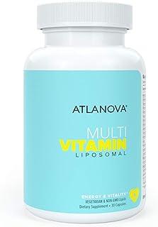 ATLANOVA Liposomal Multivitamin Multimineral Supplement, Includes Trace Minerals + B Complex, Superior Absorption Formula,...