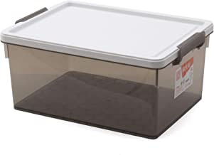 Citylife X-6268-SG 21L Piatto Storage Box, 410 * 320 * 225mm, Smoke Grey