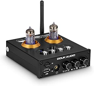 Mini Bluetooth 5.0 Vacuum Tube Preamp HiFi USB Player Stereo Audio Headphone Amp