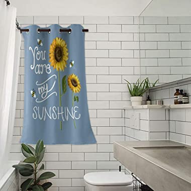Z&L Home Blackout Window Curtains Thermal Insulated Drapes Sunflower Bees You are My Sunshine Grommet Window Panel Darken