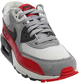 NIKE Air Max 90 Grey White Youths Trainers - 705499-003