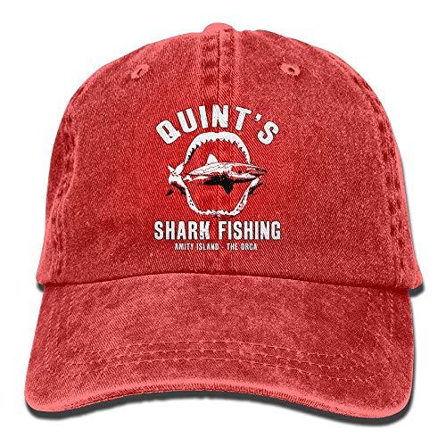 Quint 's Shark Fishing lavado Retro ajustable Jeans Cap Gym Caps para hombre y mujer