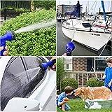 FEALING Flexibler 30M Flexischlauch Gartenschlauch Flexi Wonder, Flexi Wonder Gartenteich Schlauch Bewässungs Schlauch Dehnbar mit 8 Funktion Garten Handbrause(10M Ausgedehnt 30M)