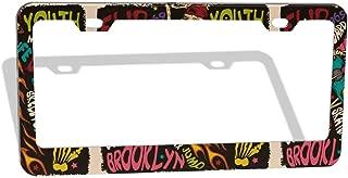 Nixboser Vector Skeleton On A Skateboard Funny License Plate Frames Painted Auto Tag Border Holder 2 PCS