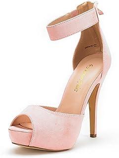 DREAM PAIRS Women's Swan High Heel Plaform Dress Pump Shoes