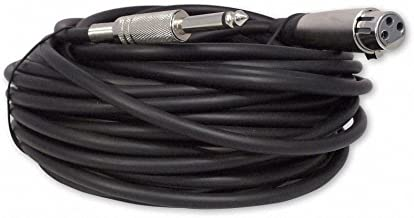Your Cable Store 50 Foot XLR 3 Pin Female to 1/4 Mono Microphone Cable, Unbalanced