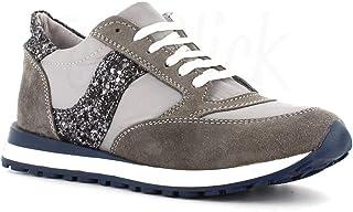 Made in Italy Sneakers in Pelle con Glitter - Grigio