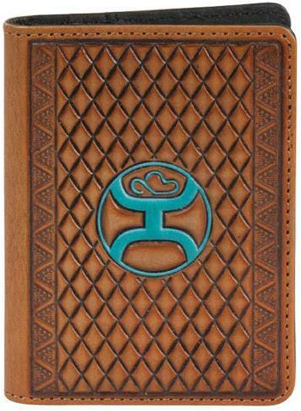 HOOey Genuin Leather Money Clip (Brown/Blue)
