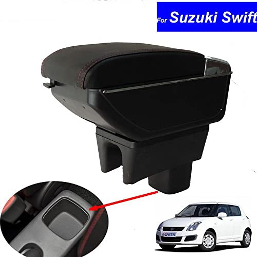 SZSS-CAR Leather Car Center Console Armrest Box for Suzuki Swift 2008 2009 2010 2011