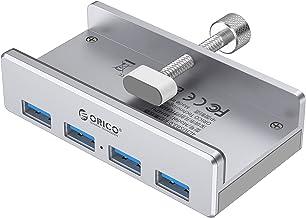 ORICO 4 Puertos Hub USB 3.0, Aluminio SuperSpeed 5Gbps USB Data Hub con Cable 100 cm Largo Ahorro Espacio para Apple MacBo...